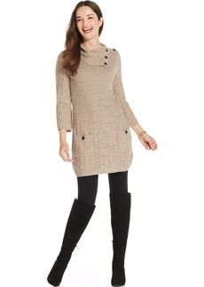 Style&co. Marled Ribbed-Knit Sweater Tunic