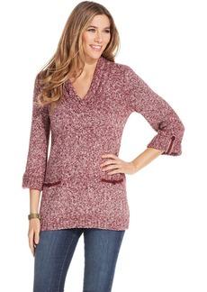 Style&co. Marled V-Neck Sweater