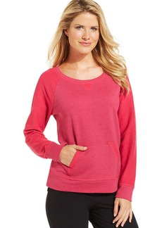 Style&co. Petite Contrast-Sleeve Pullover Sweatshirt