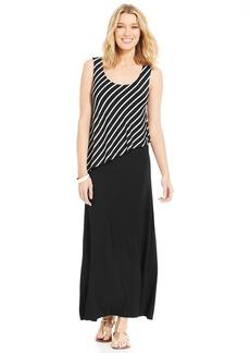 Style&co. Petite Diagonal Overlay Maxi Dress