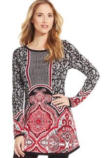 Style&co. Petite Jacquard Sweater Tunic