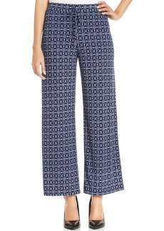 Style&co. Petite Minnie Foulard Print Drawstring Pants