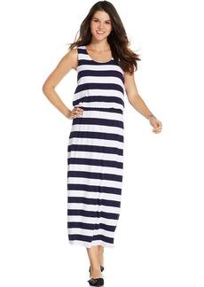 Style&co. Petite Sleeveless Striped Maxi Dress