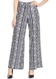 Style&co. Petite Stripe Animal Print Drawstring Pants