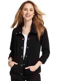 Style&co. Plus Size Roll-Tab-Sleeve Snap-Front Jacket