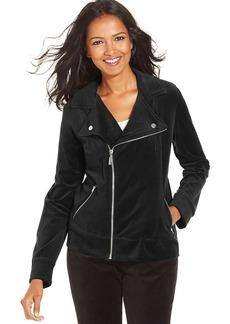 Style&co. Petite Velour Moto Jacket