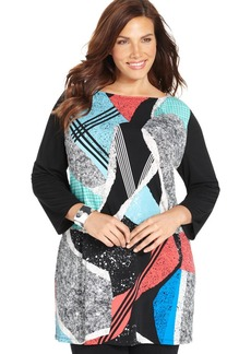 Style&co. Plus Size Abstract-Print Tunic Top