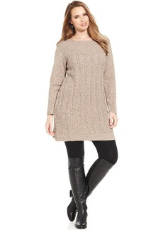 Style&co. Plus Size Cable-Knit Sweater Dress