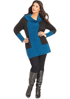 Style&co. Plus Size Colorblocked Tunic Sweater