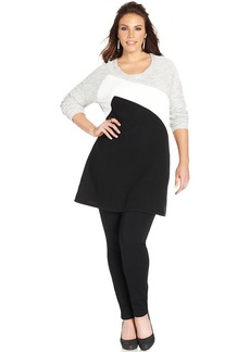 Style&co. Plus Size Colorblocked Tunic Sweatshirt