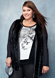 Style&co. Plus Size Long-Sleeve Printed Top