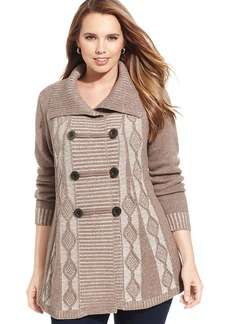 Style&co. Plus Size Marled Cable Sweater