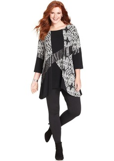 Style&co. Plus Size Patchwork-Print Tunic
