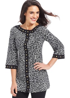 Style&co. Plus Size Printed Studded Tunic