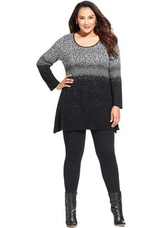 Style&co. Plus Size Printed Tunic Sweater