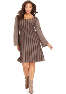 Style&co. Plus Size Ribbed-Knit Sweater Dress