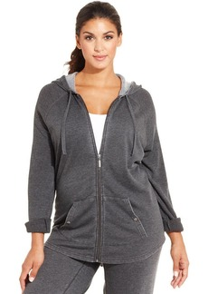 Style&co. Plus Size Roll-Tab-Sleeve Zip-Front Hoodie