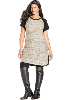 Style&co. Plus Size Sequin Front Tunic Sweater