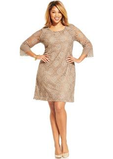 Style&co. Plus Size Three-Quarter-Sleeve Lace Sheath Dress