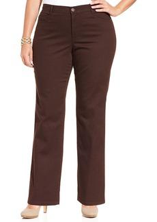 Style&co. Plus Size Tummy-Control Straight-Leg Pants
