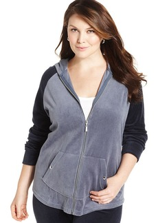 Style&co. Plus Size Velour Colorblocked Hoodie