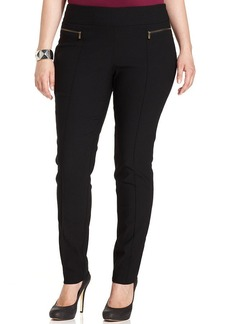 Style&co. Plus Size Zip-Pocket Skinny-Leg Pull-On Pants