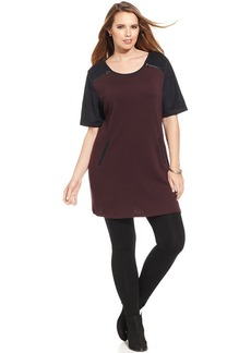 Style&co. Plus Size Zippered Colorblocked Tunic