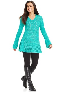 Style&co. Pointelle-Knit Sweater Tunic