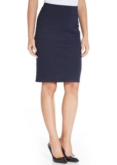 Style&co. Printed Ponte-Knit Pencil Skirt