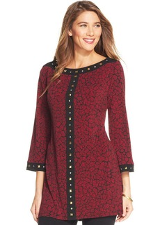 Style&co. Petite Printed Studded Tunic
