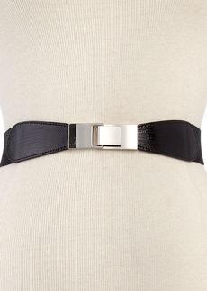 Style&co. Skinny Lizard Print Stretch Belt