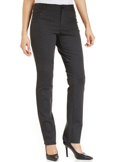 Style&co. Slim-Fit Tummy-Control Ponte-Knit Pants