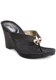 Style&co. Soola Platform Wedge Thong Sandals