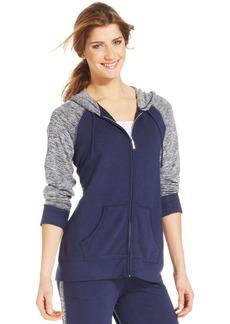 Style&co. Petite Colorblock Hoodie Jacket
