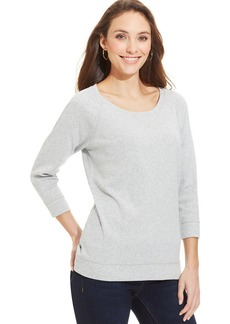 Style&co. Sport Cozy Scoop-Neck Pullover
