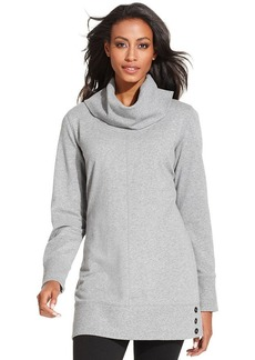 Style&co. Sport French-Terry Cowl-Neck Tunic