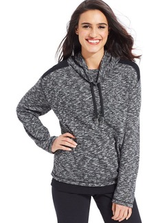 Style&co. Sport Marled-Knit Layered-Look Pullover