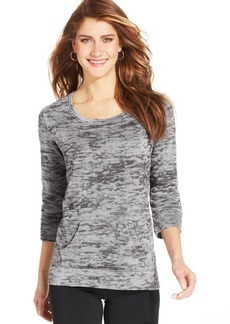 Style&co. Sport Petite Printed French-Terry Pullover
