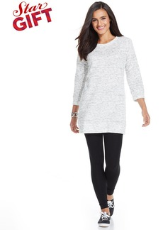 Style&co. Sport Petite Space-Dye Active Tunic