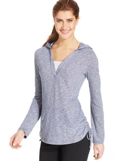 Style&co. Sport Petite Space-Dye Layered Henley