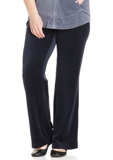Style&co. Sport Plus Size Straight-Leg Velour Pants