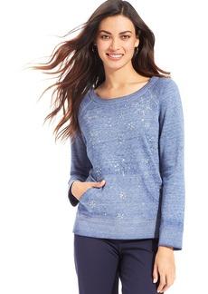 Style&co. Sport Snowflake Embellished Sweatshirt