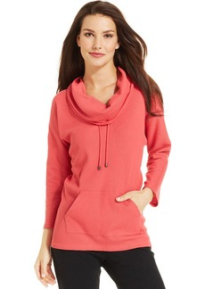 Style&co. Petite Thermal Cowl-Neck Pullover