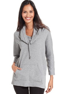 Style&co. Sport Thermal Cowl-Neck Pullover