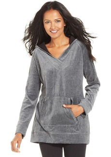 Style&co. Sport Petite Velour Pullover Hoodie