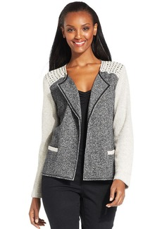 Style&co. Studded French-Terry Colorblock Jacket