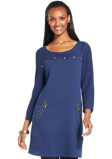 Style&co. Studded Mixed-Texture Tunic