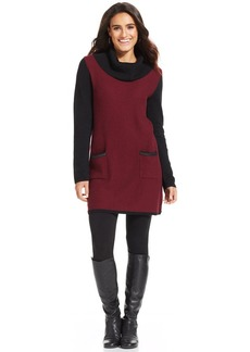 Style&co. Textured Colorblock Sweater Tunic