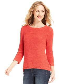 Style&co. Textured-Knit High-Low Sweater