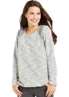 Style&co. Textured Metallic Quilted Sweatshirt